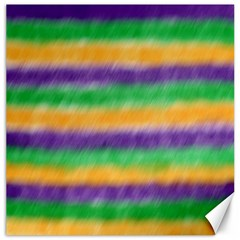 Mardi Gras Strip Tie Die Canvas 20  x 20