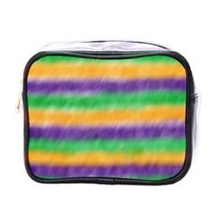 Mardi Gras Strip Tie Die Mini Toiletries Bags