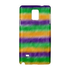 Mardi Gras Strip Tie Die Samsung Galaxy Note 4 Hardshell Case