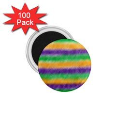 Mardi Gras Strip Tie Die 1.75  Magnets (100 pack)