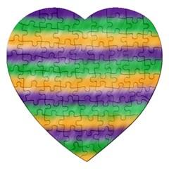 Mardi Gras Strip Tie Die Jigsaw Puzzle (Heart)