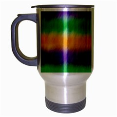 Mardi Gras Strip Tie Die Travel Mug (Silver Gray)