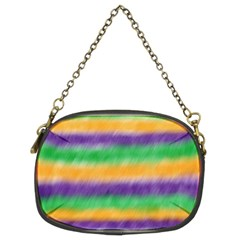 Mardi Gras Strip Tie Die Chain Purses (Two Sides)