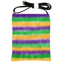 Mardi Gras Strip Tie Die Shoulder Sling Bags