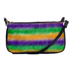 Mardi Gras Strip Tie Die Shoulder Clutch Bags