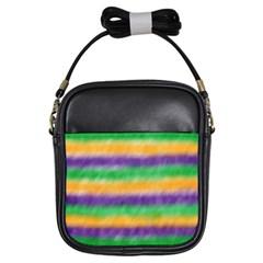 Mardi Gras Strip Tie Die Girls Sling Bags