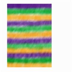 Mardi Gras Strip Tie Die Large Garden Flag (Two Sides)