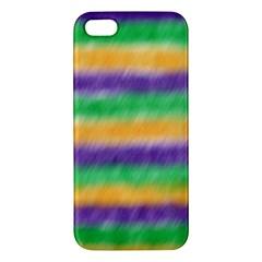 Mardi Gras Strip Tie Die Apple iPhone 5 Premium Hardshell Case