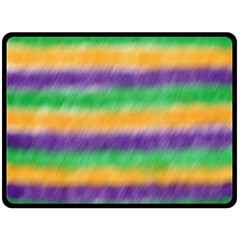 Mardi Gras Strip Tie Die Double Sided Fleece Blanket (Large)
