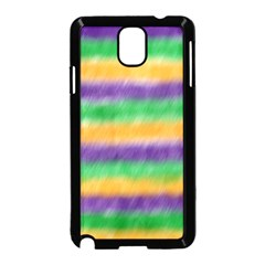 Mardi Gras Strip Tie Die Samsung Galaxy Note 3 Neo Hardshell Case (Black)