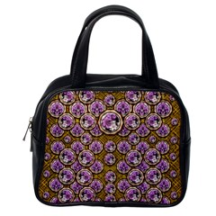 Gold Plates With Magic Flowers Raining Down Classic Handbags (One Side)