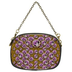 Gold Plates With Magic Flowers Raining Down Chain Purses (One Side)
