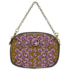 Gold Plates With Magic Flowers Raining Down Chain Purses (two Sides)