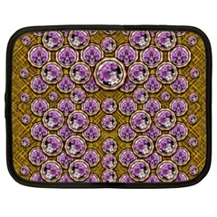 Gold Plates With Magic Flowers Raining Down Netbook Case (xxl)