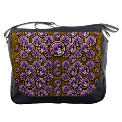 Gold Plates With Magic Flowers Raining Down Messenger Bags