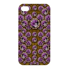 Gold Plates With Magic Flowers Raining Down Apple iPhone 4/4S Premium Hardshell Case