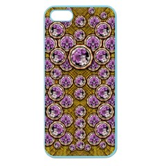 Gold Plates With Magic Flowers Raining Down Apple Seamless Iphone 5 Case (color)