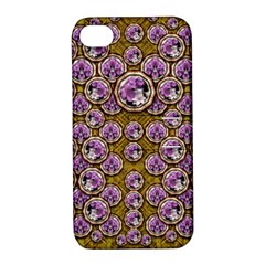 Gold Plates With Magic Flowers Raining Down Apple iPhone 4/4S Hardshell Case with Stand