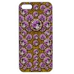 Gold Plates With Magic Flowers Raining Down Apple iPhone 5 Hardshell Case with Stand