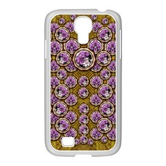 Gold Plates With Magic Flowers Raining Down Samsung GALAXY S4 I9500/ I9505 Case (White)