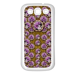 Gold Plates With Magic Flowers Raining Down Samsung Galaxy S3 Back Case (White)