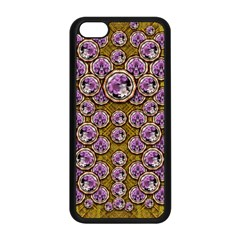 Gold Plates With Magic Flowers Raining Down Apple Iphone 5c Seamless Case (black)