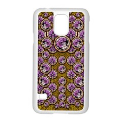 Gold Plates With Magic Flowers Raining Down Samsung Galaxy S5 Case (White)