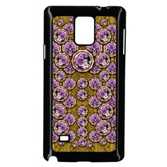 Gold Plates With Magic Flowers Raining Down Samsung Galaxy Note 4 Case (Black)