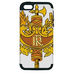 National Emblem of France  Apple iPhone 5 Hardshell Case (PC+Silicone)