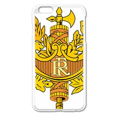 National Emblem of France  Apple iPhone 6 Plus/6S Plus Enamel White Case