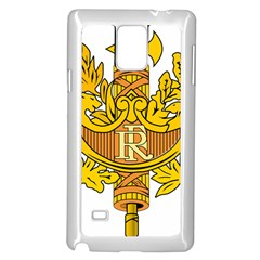 National Emblem of France  Samsung Galaxy Note 4 Case (White)