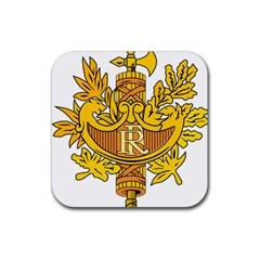 National Emblem of France  Rubber Square Coaster (4 pack)