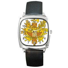 National Emblem of France  Square Metal Watch