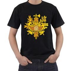 National Emblem of France  Men s T-Shirt (Black) (Two Sided)