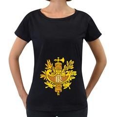 National Emblem Of France  Women s Loose Fit T Shirt (black)