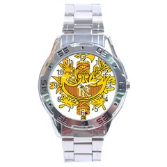 National Emblem of France  Stainless Steel Analogue Watch