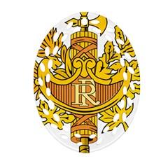 National Emblem of France  Ornament (Oval Filigree)