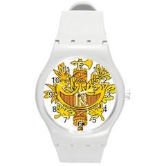 National Emblem of France  Round Plastic Sport Watch (M)