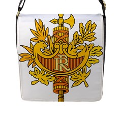 National Emblem of France  Flap Messenger Bag (L)