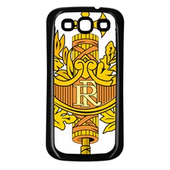 National Emblem of France  Samsung Galaxy S3 Back Case (Black)