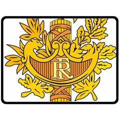 National Emblem of France  Double Sided Fleece Blanket (Large)