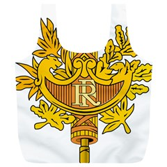 National Emblem of France  Full Print Recycle Bags (L)