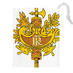 National Emblem of France  Drawstring Pouches (XXL)