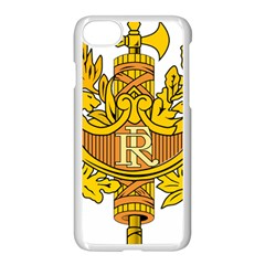 National Emblem of France  Apple iPhone 7 Seamless Case (White)