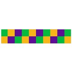 Mardi Gras Checkers Flano Scarf (Small)