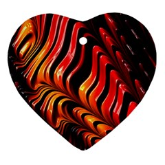 Fractal Mathematics Abstract Heart Ornament (Two Sides)