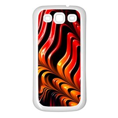 Fractal Mathematics Abstract Samsung Galaxy S3 Back Case (White)