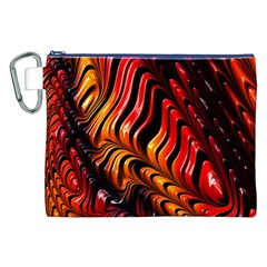 Fractal Mathematics Abstract Canvas Cosmetic Bag (XXL)