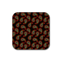 Pattern Abstract Paisley Swirls Rubber Square Coaster (4 pack)