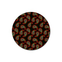 Pattern Abstract Paisley Swirls Rubber Round Coaster (4 Pack)